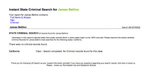 Jim Bellino criminal records search